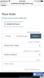 Complete Order Form