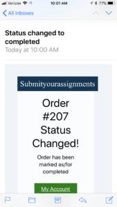 Order Completion